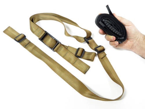 KZ Quick Adjust Slings Low-Profile Smooth Webbing w/Pull Tab