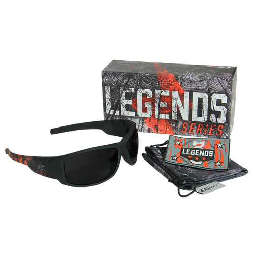 Legends Cataclysm – Soft-Touch Black & Red Frame / Smoke Vapor Shield Lens