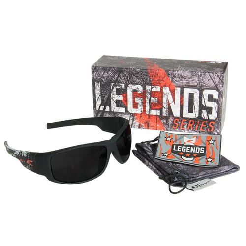 Legends Deathproof – Soft-Touch Black & Green Frame / Smoke Vapor Shield Lens