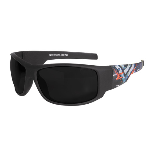 Legends Boneyard – Soft-Touch Black & Gray Frame / Smoke Vapor Shield Lens