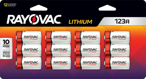 Rayovac RL123A 3-Volt Lithium Batteries 12/Pack