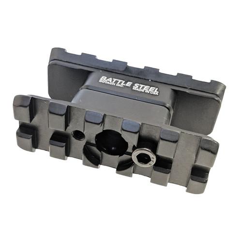 Battle Steel AR15/M4 Dual Rail Front Sight Accessory / Sling Mounts