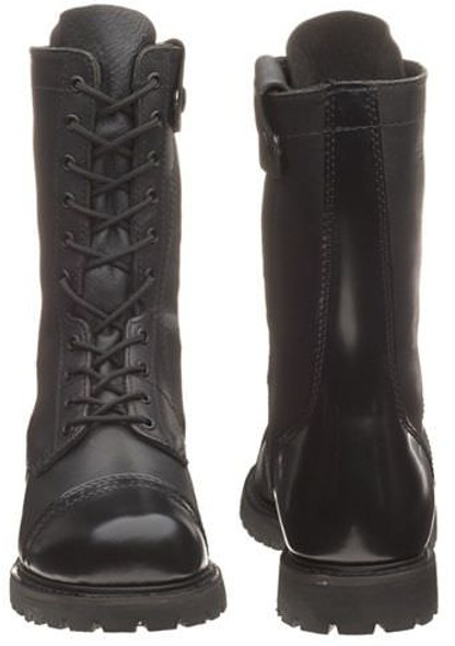"Bates E02184 Black 11"" Leather Side Zip Paratrooper Boots"