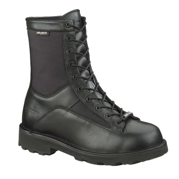 "Bates E03135 Black 8"" Leather Waterproof Boots"