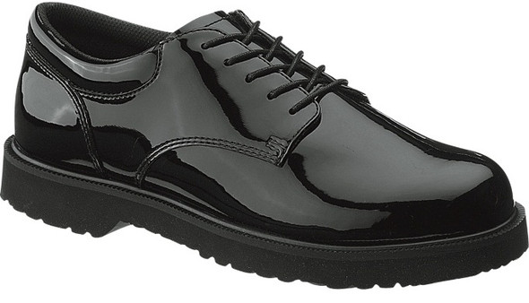 Bates E22141 Black High Gloss Duty Oxford Shoes