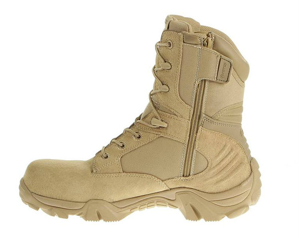 "Bates E02276 Desert Tan 8"" Leather Side Zip Boots"