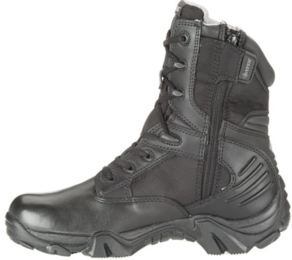 "Bates E02788 Black 8"" Side Zip Waterproof Women's Boots"