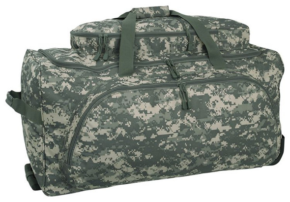 Code Alpha Army Digital Rolling Duffel