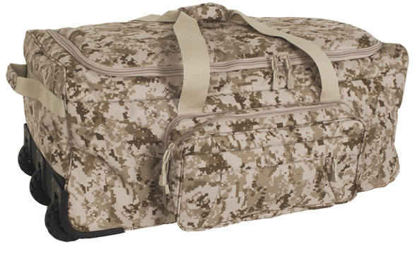 Code Alpha Marpat Desert Digital Camo Deployment/Container Bag w/ Tri-Wheel