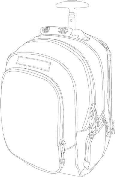 Code Alpha Wheeled Laptop Backpack