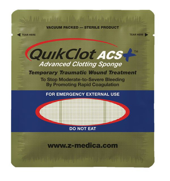 Z-Medica QuikClot ACS+ Advanced Clotting Sponge