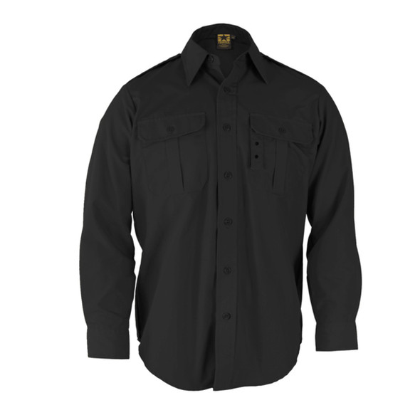 Propper F530238001 Long Sleeve Tactical Dress Shirts, Black