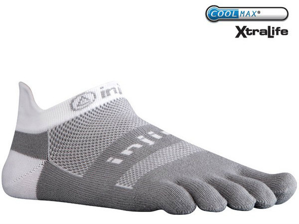 Injinji RUN 2.0 Midweight No-Show Gray/White