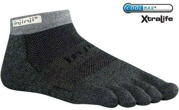 Injinji TRAIL 2.0 Midweight Micro Socks Granite