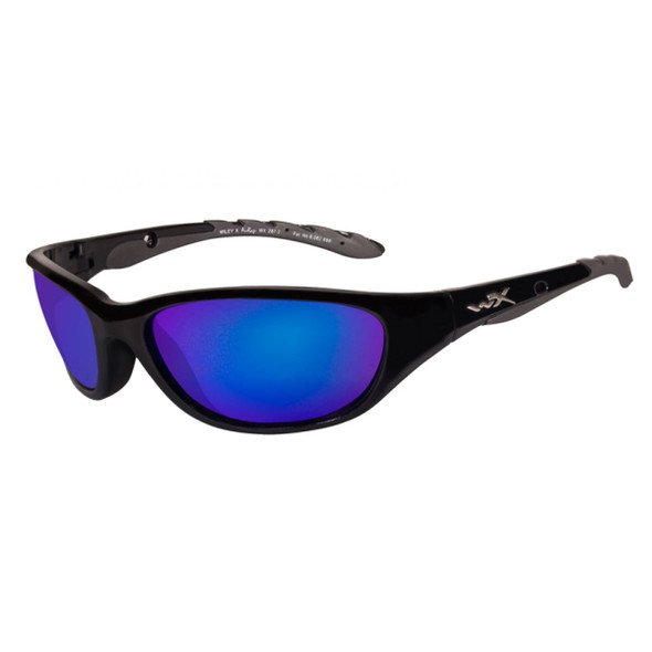 Wiley X AirRage Polarized Blue Mirror Lens - Gloss Black