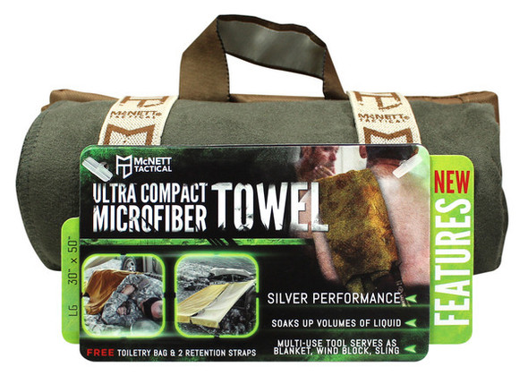 McNett Ultra Compact Microfiber Towels LARGE - OD Green