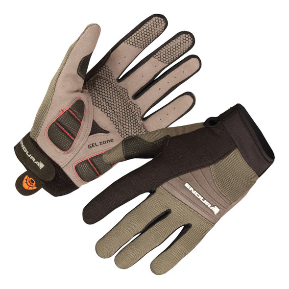 Endura Full Monty Summer Gloves - Black/Olive