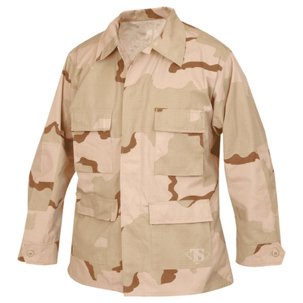 Tru-Spec / TSSI 3 Color Desert Camo 50/50 Nylon/Cotton Rip-Stop Battle Jacket