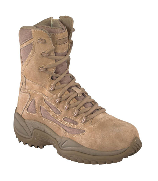 "Reebok RB8895 Men's Rapid Response Stealth 8""Boot w/Side Zipper, Desert Tan"