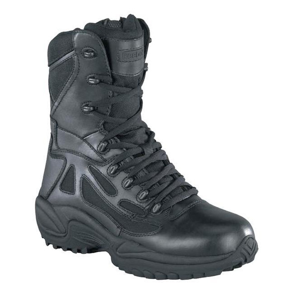 "Reebok RB8875 Men's 8"" Rapid Response RB Soft Toe Combat Boot, Black"