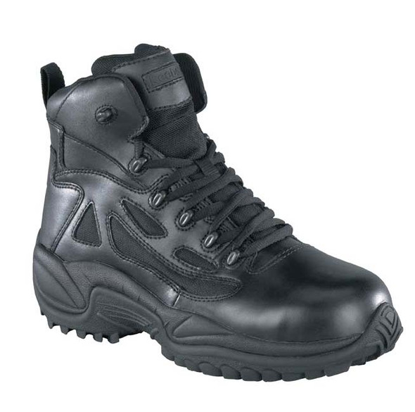 "Reebok RB864 Women's Stealth 6"" Boot w/Side Zipper, Black"