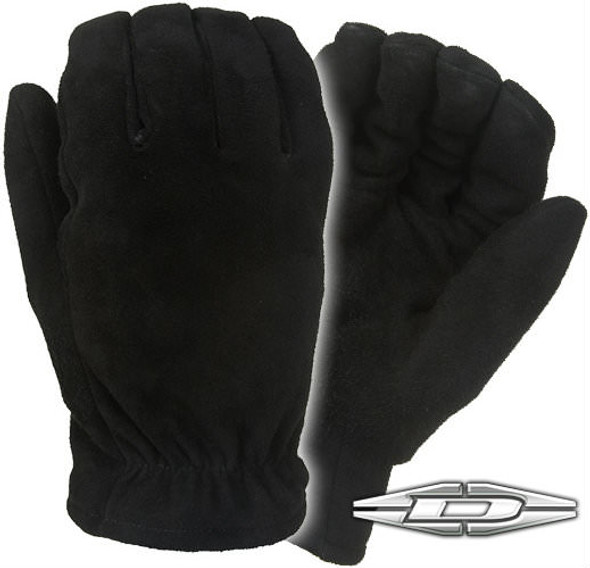 Damascus D550 Mailmaster Suede Leather Gloves, Black, Large
