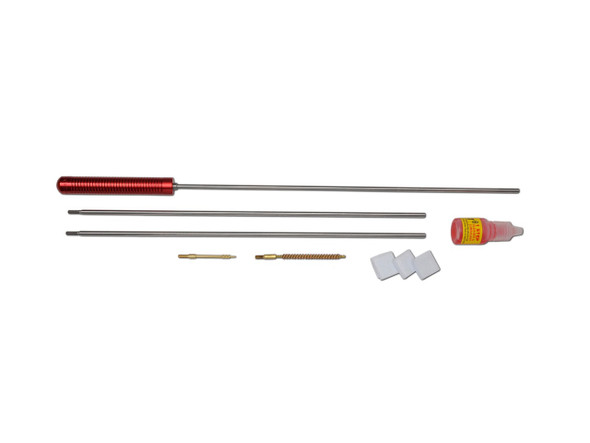 "3PS-36-17 - 3 Piece 36"" Length .17 Cal. Cleaning Kit  The Pro-Shot Cleaning Kit 3 Piece Stainless Steel 177 Caliber 5-40 Thread is one of the best cleaning kits on the market. It includes rod, spear tip jag, bore brush, patches, cleaner and lubricant, and cleaning patches."