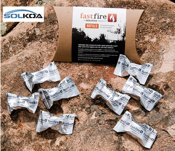 SOLKOA Fast-Fire Fast Fire Tinder Refill 8/pk