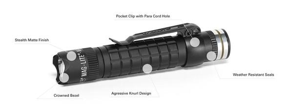 MagLite MAG-TAC 543 Lumen Rechargeable LED Flashlight System w/Crowned Bezel