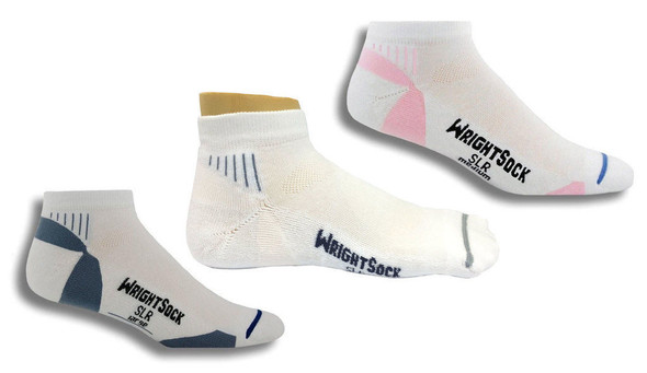 Wrightsock 123 Single Layer Velocity Low Quarter Socks 6/Pack Made in the USA