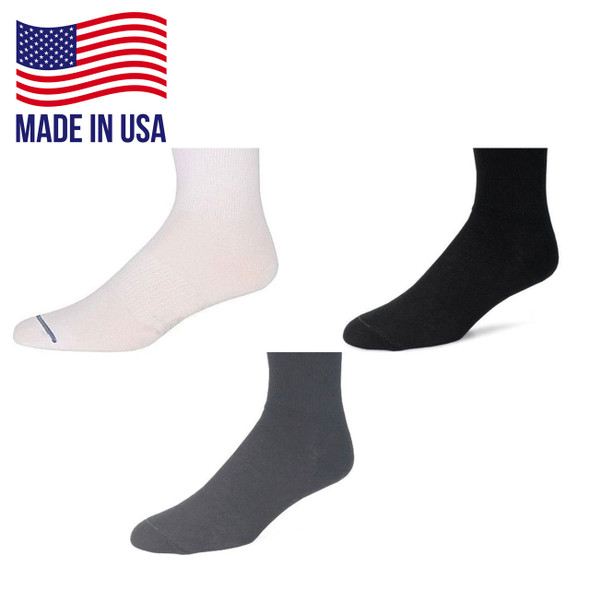Wrightsock 969 Single Layer Ultra Thin Quarter Socks 6/Pack Made in the USA