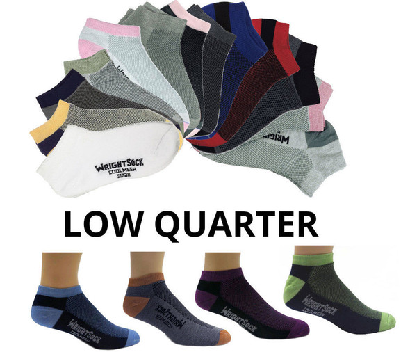 Wrightsock 504 Double Layer Coolmesh Low Quarter Socks 6/Pack