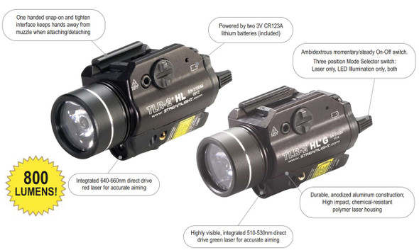 Streamlight 69265 TLR-2 HL G Gun Lights w/Green Laser