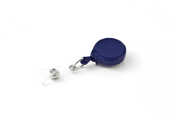 Key-Bak Mini-Bak BLUE ID PAC Badge Holder w/ Bulldog Clip