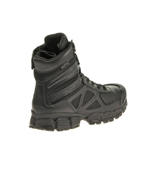 "Bates E04034 Black 8"" Side Zip Lightweight Waterproof Boots"