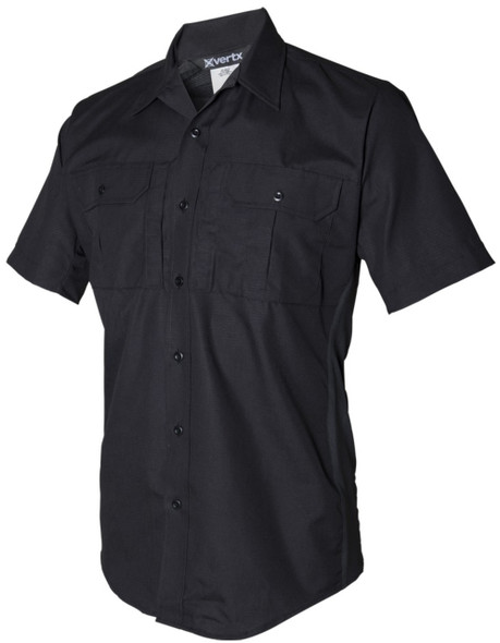 Vertx VTX8100BK Phantom LT Short Sleeve Shirt, Black