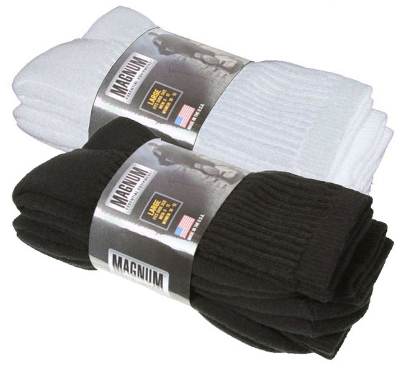 Magnum DC-1 White Socks 3/Pack