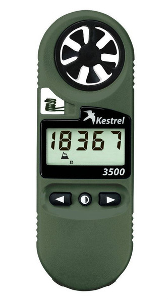 Kestrel 3500NV Weather Meter Olive Drab w/ Digital Psychrometer & NV Backlight