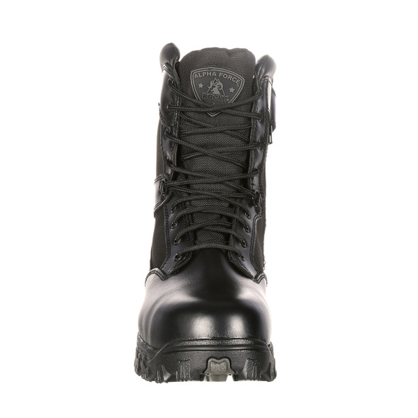 Rocky 2173 Alpha Force Duty Boots w/Side Zipper BLACK