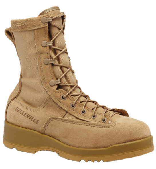 Belleville 330 DES ST Hot Weather Steel Toe AR 670-1 Compliant Flight Boots, Tan