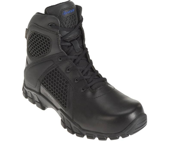 "Bates E07006 Black 6"" Side Zip Waterproof Boots"