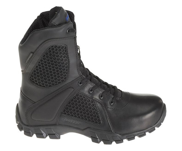 "Bates E07008 Black 8"" Side Zip Waterproof Boots"