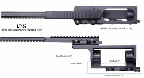 LaRue LT159-L S.T.O.M.P. Sniper Total Optical Mounting Package LT-STOMP