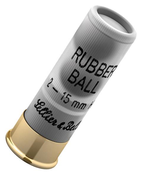 S&B 12GA Double Rubber Ball Ammunition 25rds