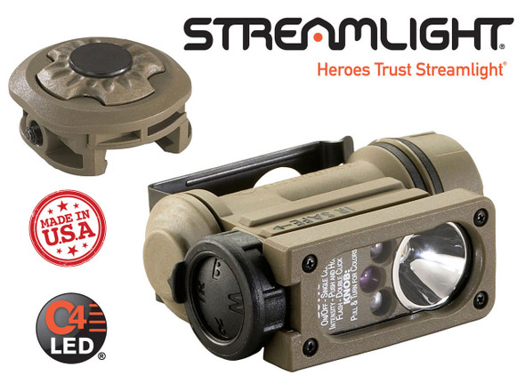 Streamlight Sidewinder Compact II Mil-Spec w/Helmet Rail Mount Adapter