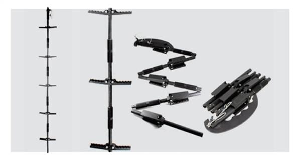 Ruhl Tech Folding Pole/ Folding Step Ladder-Dual