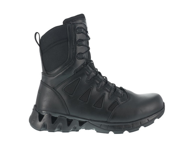 "Reebok RB8845 Men's ZigKick 8"" Side Zip Tactical Boots"