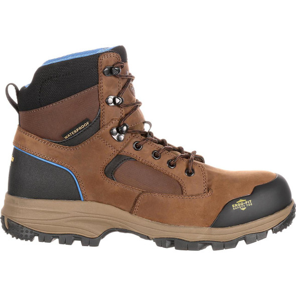 Georgia Boots GB00107 Blue Collar Waterproof Work Hiker Dark Brown Boots