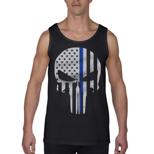 Thin Blue Line Men's Flag Tank