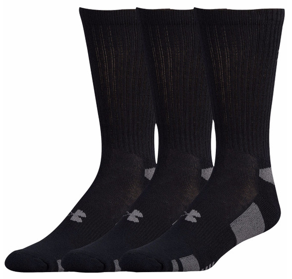 Under Armour Men's HeatGear Crew 3-Pack Socks